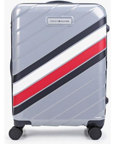 Серый чемодан Tommy Hilfiger