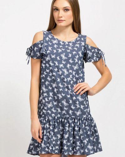 Летнее платье синее Remix