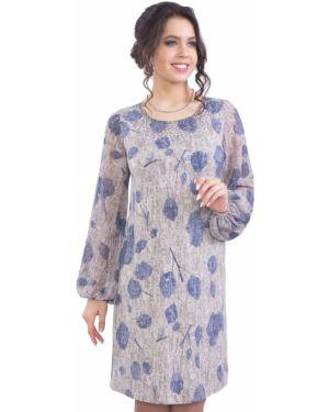 Платье со складками со стразами Wisell