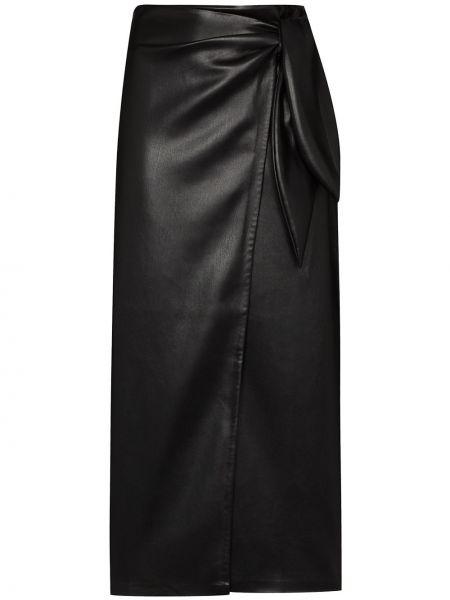 Юбка миди с завышенной талией - черная Nanushka