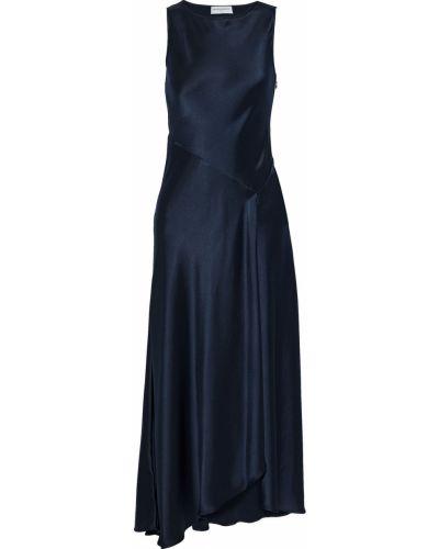 Асимметричное синее платье макси из крепа Amanda Wakeley