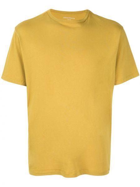 Koszula krótkie z krótkim rękawem prosto żółty Officine Generale