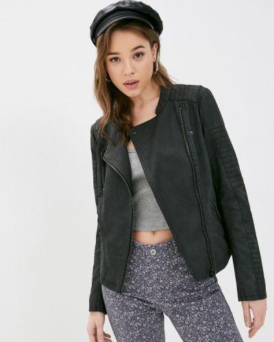Кожаная куртка - черная Only