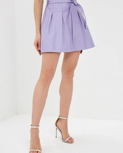 Кожаная юбка итальянский фиолетовый Rinascimento