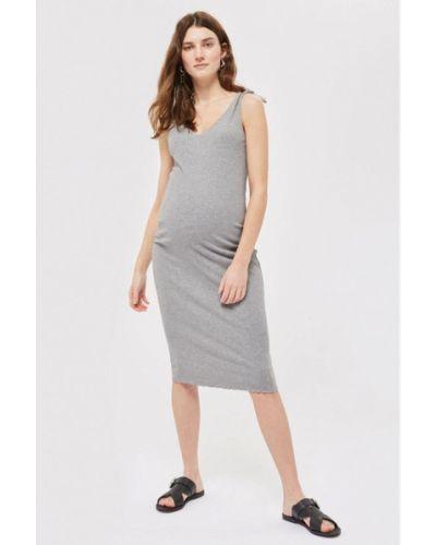 Серое платье весеннее Topshop Maternity