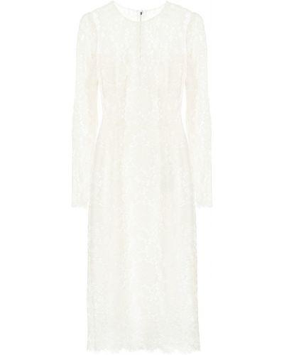 Платье миди с цветочным принтом из вискозы Dolce & Gabbana
