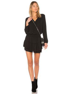 Черное платье с декольте с подкладкой Krisa