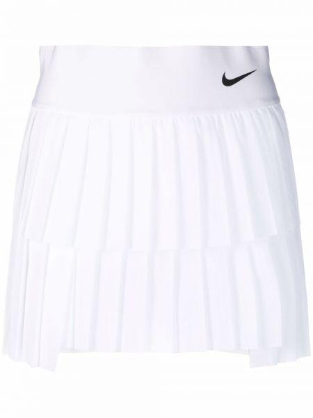 Biała spódnica plisowana asymetryczna Nike