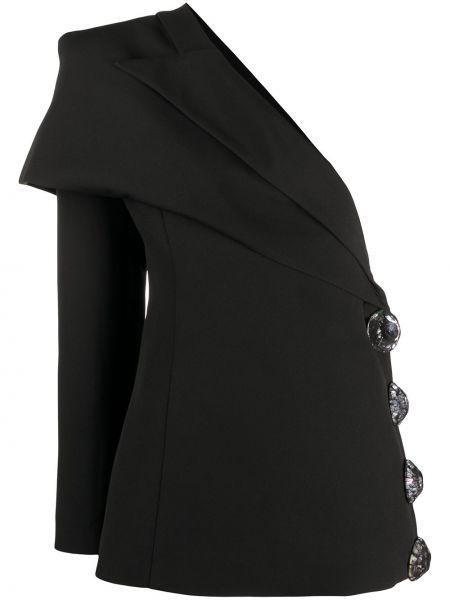 Черный пиджак с открытыми плечами на пуговицах Loulou