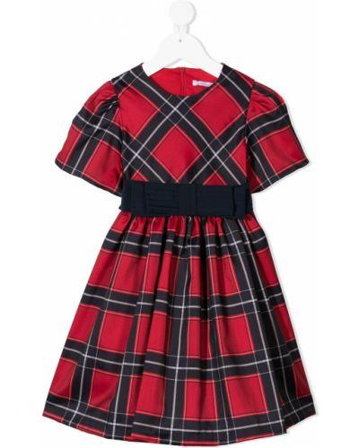 Красное прямое платье круглое с круглым вырезом Patachou