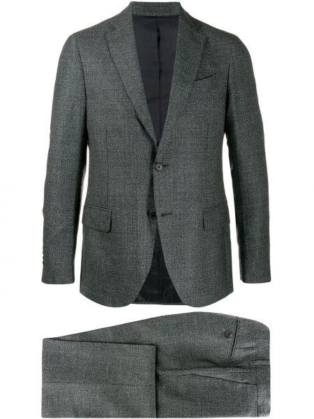 Klasyczny garnitur kostium wełniany Dell'oglio