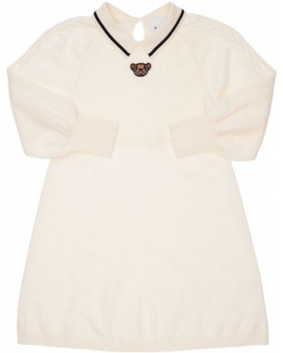 Шерстяное платье - белое Burberry