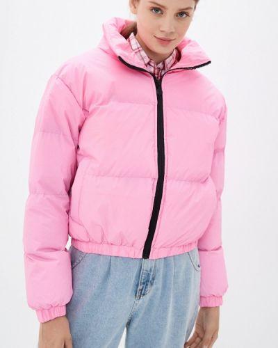 Теплая розовая утепленная куртка Brave Soul