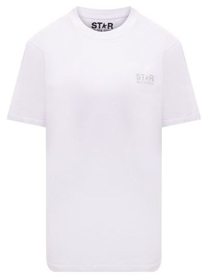 Хлопковая футболка - белая Golden Goose Deluxe Brand