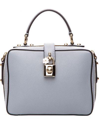 Кожаная сумка - серая Dolce & Gabbana