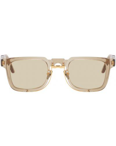 Солнцезащитные очки металлические - золотые Kuboraum