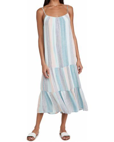 Льняное платье с подкладкой на бретелях Rails
