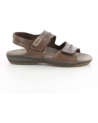 Sandały płaskie - brązowe Mephisto
