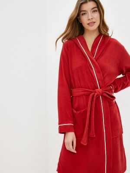 Красный домашний халат Luisa Moretti