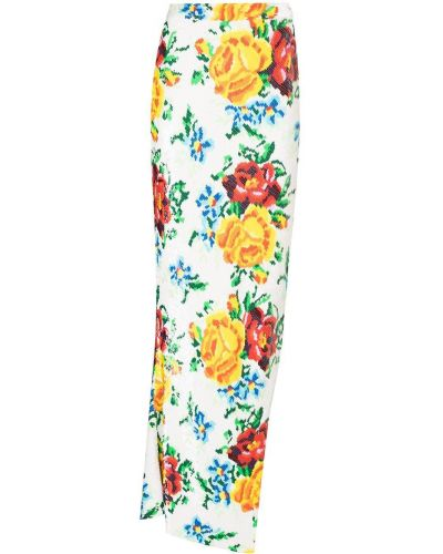 С завышенной талией белая юбка макси из вискозы Ashish