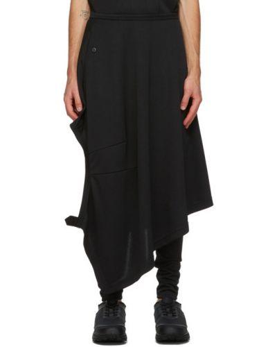 Черная асимметричная юбка с поясом на пуговицах Comme Des Garçons Homme Plus