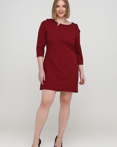 Красное платье с круглым вырезом с подкладкой Nife