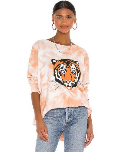 Codziennie bawełna frotte pomarańczowy bluza Wildfox Couture
