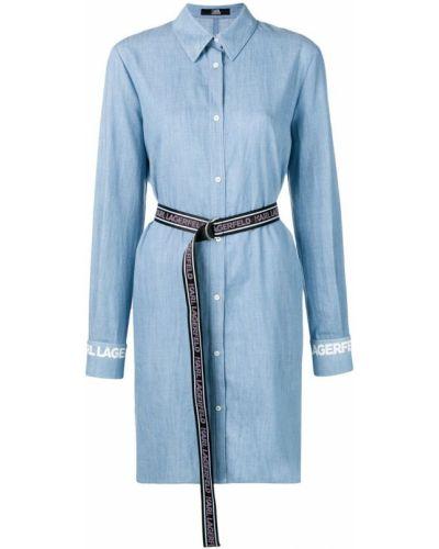 Платье мини на пуговицах классическое Karl Lagerfeld