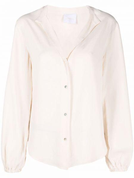 Белая блузка с воротником ..,merci