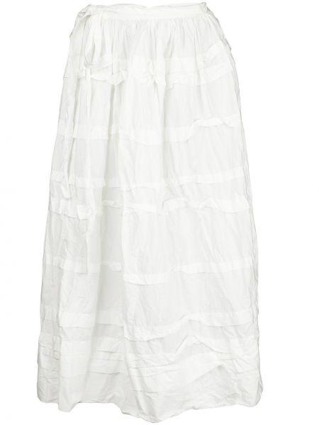 Bawełna biały bawełna z wysokim stanem spódnica midi Daniela Gregis
