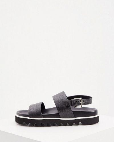 Черные кожаные сандалии P.a.r.o.s.h.