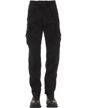 Czarne spodnie bawełniane ciążowe Guerrilla Group