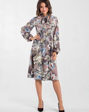 Платье миди с V-образным вырезом платье-сарафан Mariko
