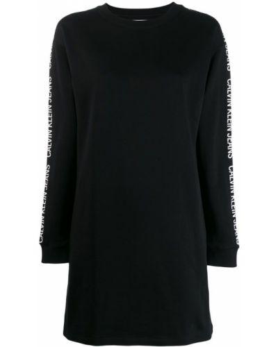 Платье платье-толстовка с вырезом Calvin Klein