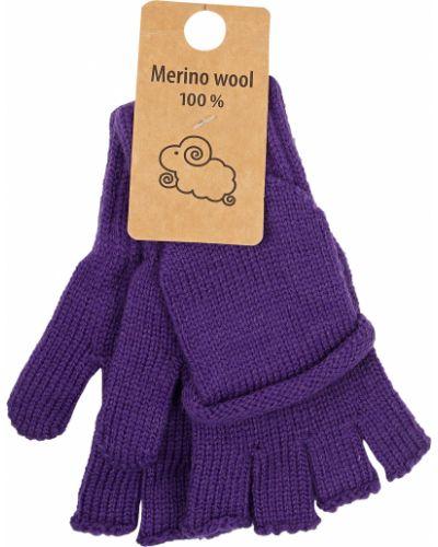 Шерстяные фиолетовые перчатки Air Wool