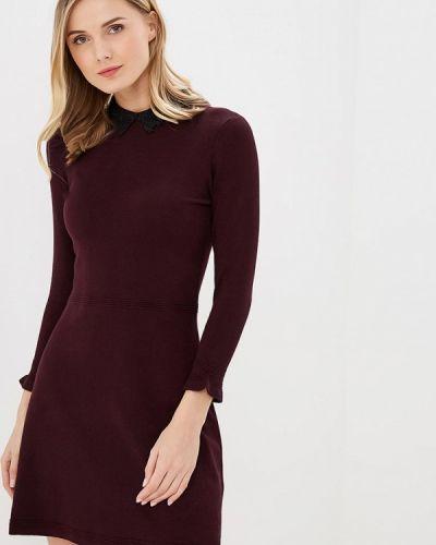 Платье бордовый вязаное Warehouse
