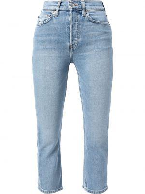 Облегающие зауженные джинсы - синие Re/done