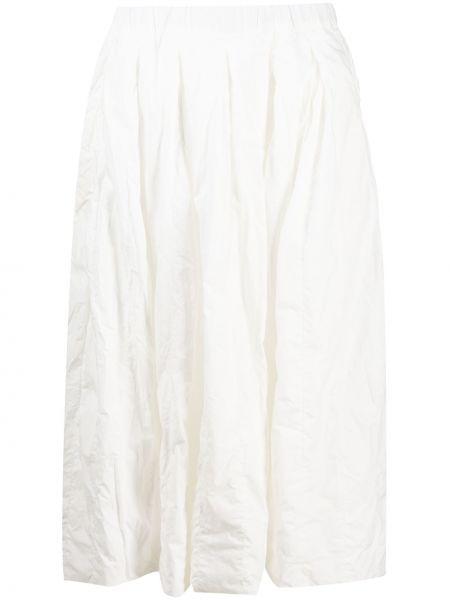 Хлопковая белая юбка миди с поясом Casey Casey