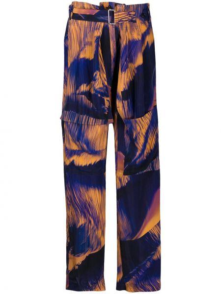 Синие брюки с карманами Paul Smith