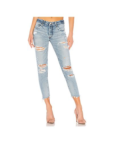 Рваные джинсы Moussy Vintage