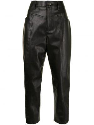 Кожаные брюки - черные Rebecca Minkoff