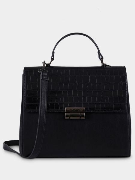 Кожаная сумка - черная Marco Tozzi