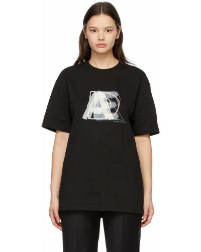 Biały t-shirt bawełniany z haftem Ader Error