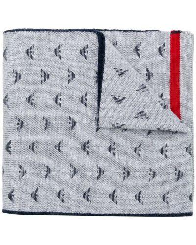 Серый акриловый шарф Emporio Armani Kids