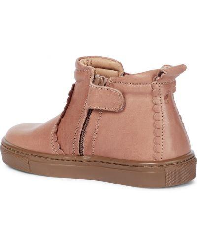 Розовые кожаные ботинки челси Petit Nord