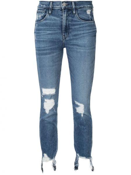 Укороченные прямые джинсы - синие 3x1