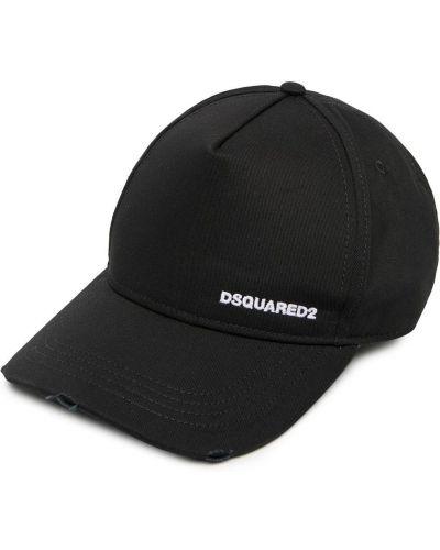Czarny baseball czapka baseballowa z haftem Dsquared2