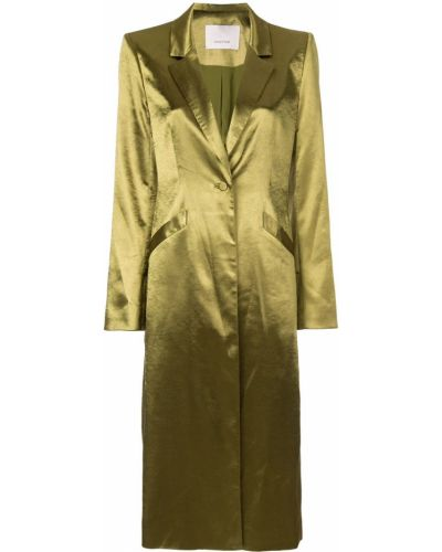 Длинное пальто с капюшоном на пуговицах Cinq A Sept