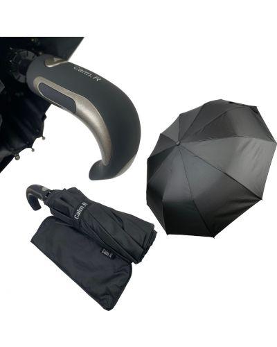 Костюмный серебряный складной зонт Calm Rain