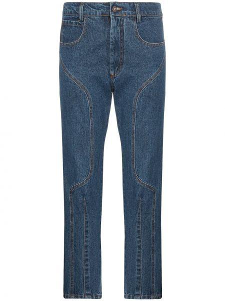 Укороченные джинсы в стиле бохо Delada